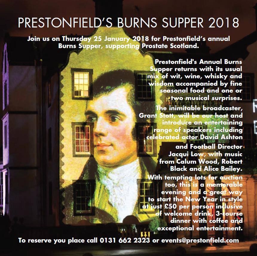Prestonfield Burns Supper 2018