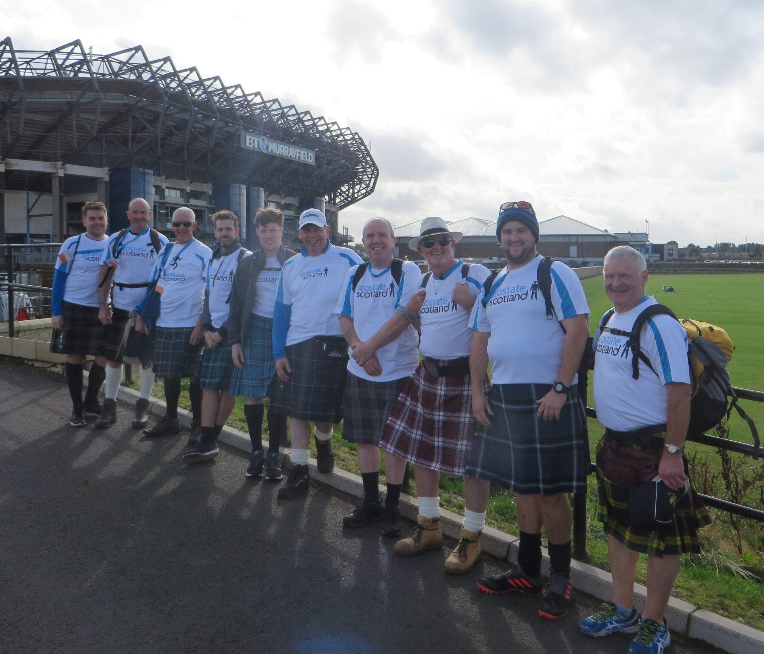 Team of Kiltwalkers at Murrayfield