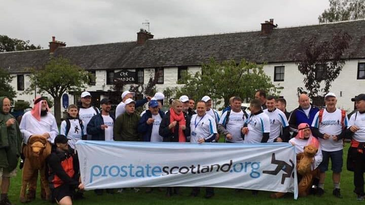 Group at start with flag